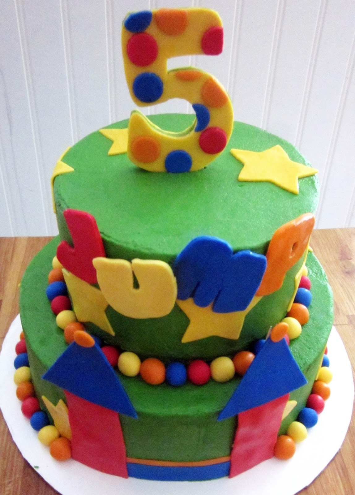 Darlin' Designs Bounce House Birthday Cake