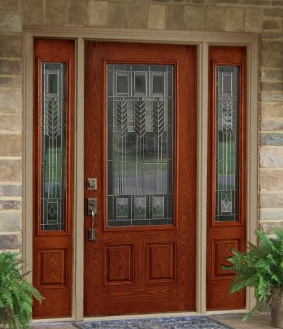 Entry Doors With Sidelights Fiberglass Entry Doors With