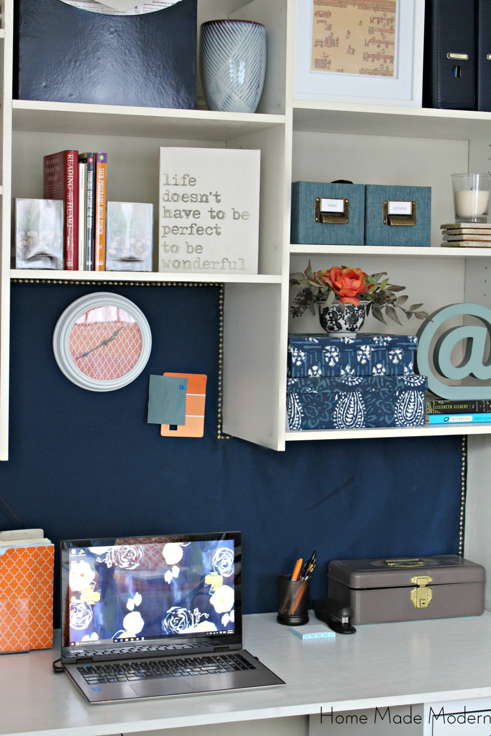 Diy cork board home made modern for Diy fabric bulletin board ideas