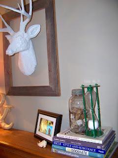 The Sunset Lane White Deer Head