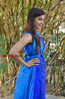 Tamil Actress Sanchita Shetty Latest Pos in Blue Dress at Yenda Thalaiyila Yenna Vekkala Audio Launch  0003.jpg