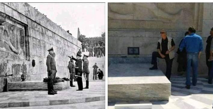 Ο συνδικαλιστής που βεβήλωσε το μνημείο του Αγνώστου Στρατιώτη - Ήταν στην πορεία των εργαζομένων στη ΔΕΗ ακόμα κυκλοφορεί ελεύθερος- ΒΙΝΤΕΟ