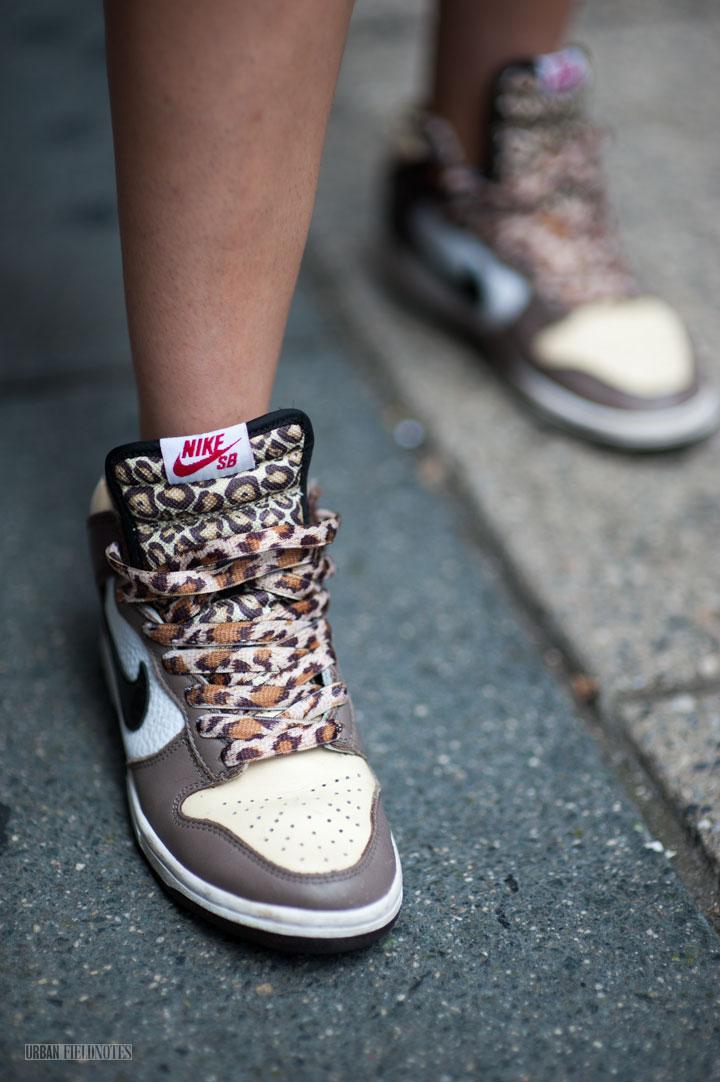 Nike Leopard Print Shoes White