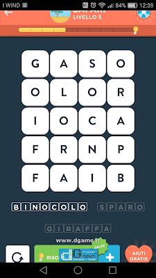 WordBrain 2 soluzioni: Categoria Safari (4X5) Livello 5