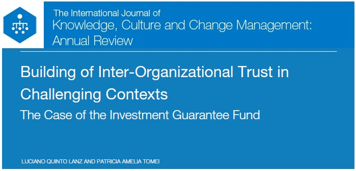 journal of organizational change management Journal of change management  journal news journal of change  how change agents' motivation facilitates organizational change: pathways through meaning and.
