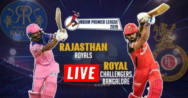 VIVO IPL 2019 Match 14 RR vs RCB Live Score and Full Scorecard