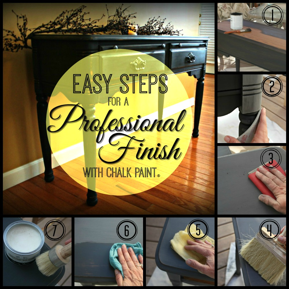 DIY professional finish with Chalk Paint