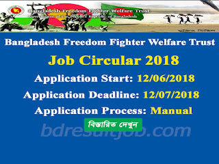 Bangladesh Freedom Fighter Welfare Trust Job Circular 2018