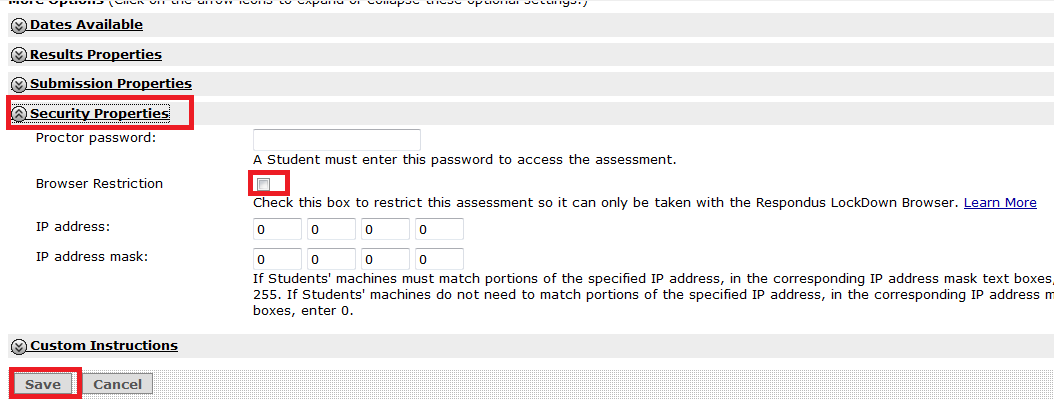 Online Course Development Tools: Respondus Lockdown Browser