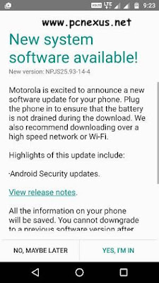 Moto G4 Plus March 2017 Security Patch Update (NPJS25.93-14-4)