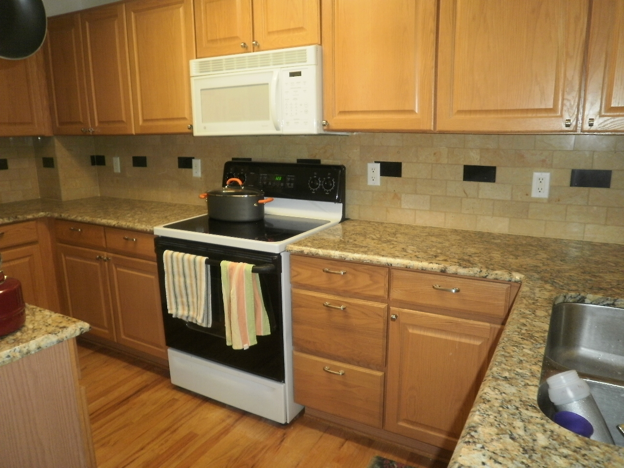 stone backsplash with oak cabinets integrity installations a division of front 454