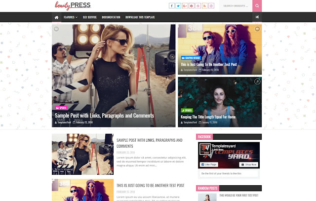 BeautyPress Responsive Magazine News Fashions Girly Sites Template Theme
