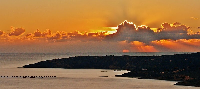 Sunset over Livatho, Kefalonia