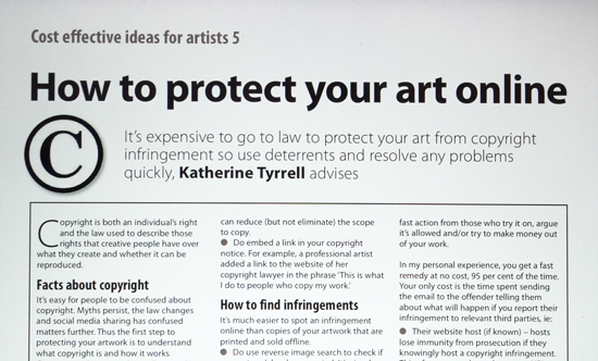 making a mark how to protect your art online
