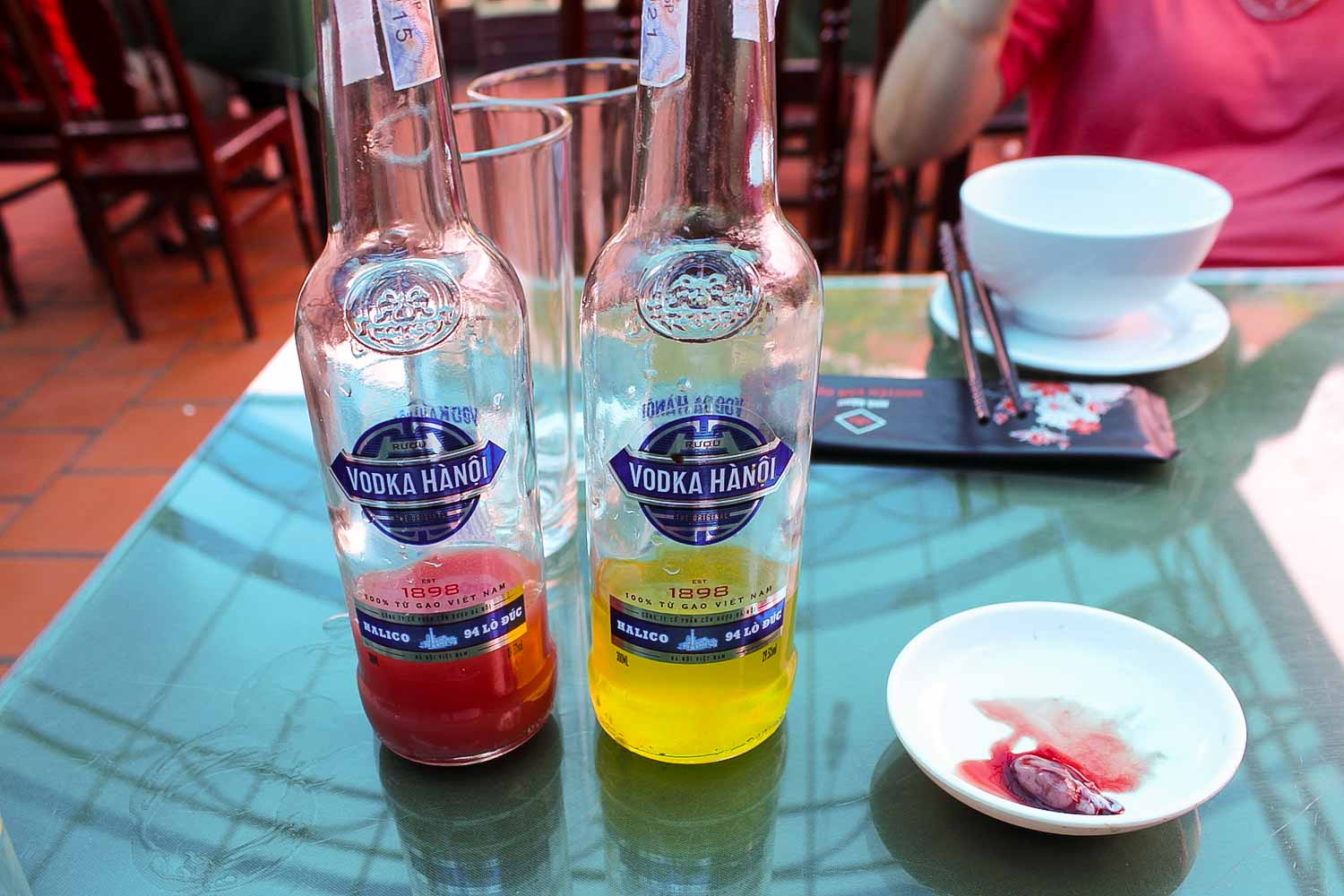 snake heart with blood and bile and rice wine hanoi vietnam