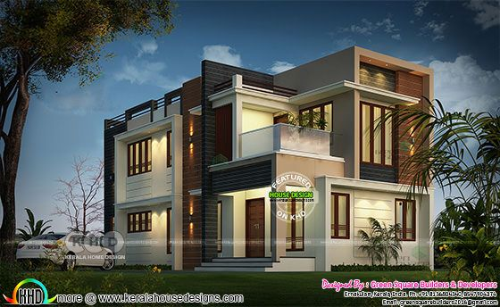 1934 sq-ft 4 bhk modern home architecture