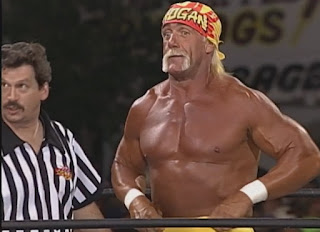 WCW Road Wild 1999 - Hulk Hogan defended the WCW title against Kevin Nash
