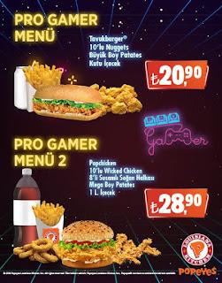popeyes pro gamer menü popeyes gamer men