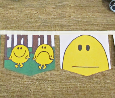 image bunting banner garland mr happy mr men domum vindemia handmade on etsy for children