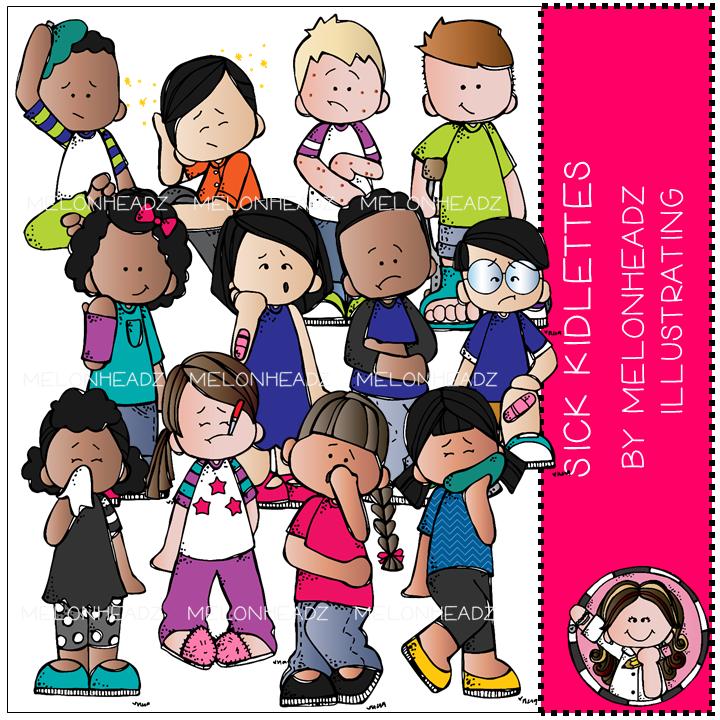 COMBO PACK Rainbow Kidlettes clip art Part 2