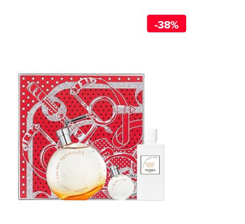 Set cadou Hermes femei Eau de Merveilles (Apa de toaleta 100 ml + Apa de toaleta 7.5 ml + Lotiune de corp 80 ml)