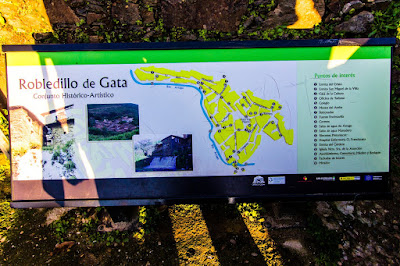 Mapa Visitar Pueblo de Robledillo de Gata, Plasencia, Cáceres, Extremadura