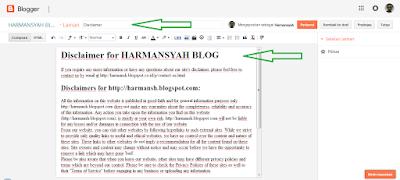 Menu Editor Halaman Statis/Laman