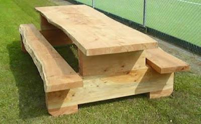 kursi taman unik kayu jati