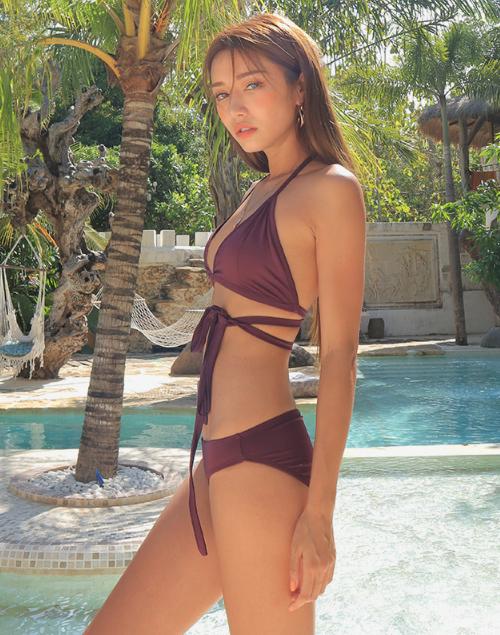 Wraparound Solid Tone Bikini