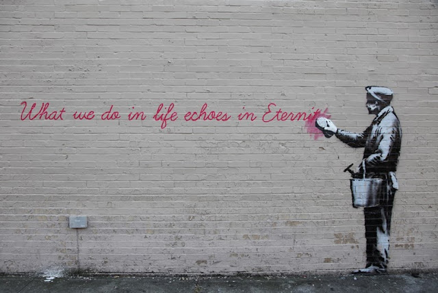 """Eternity"" New Banksy Piece Uncovered Early For ""Better Out Than In"" In New York City. 1"