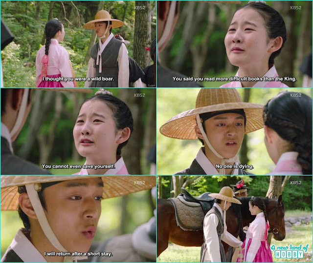 chae kyung cried a lot when prince yeok was exiled - Seven Day Queen: Episode 4 korean Drama