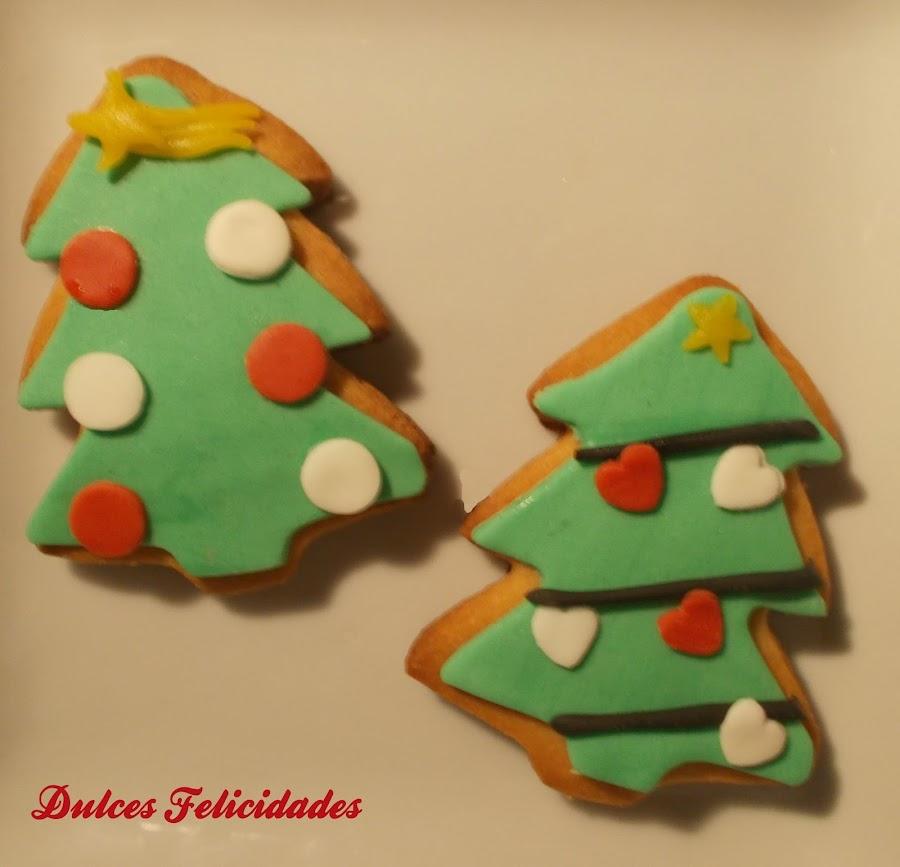 Galletas navideñas de fondant
