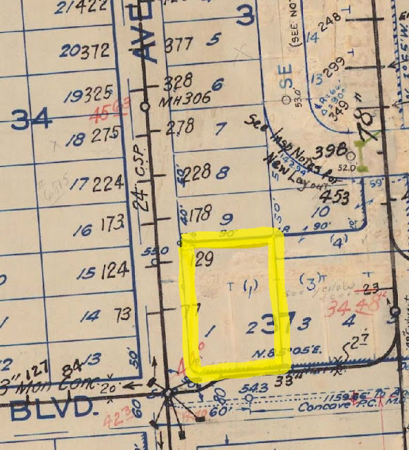 2209 SE Bybee, Portland, Oregon, 1939 sewer assets map #3732