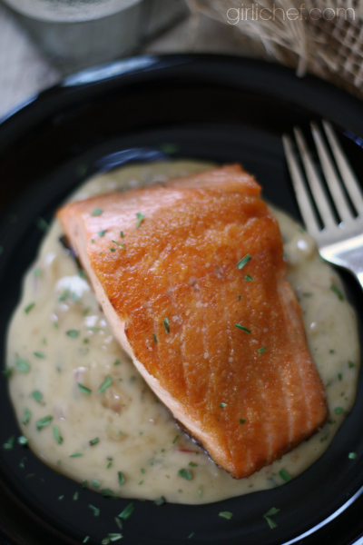 Salmon in Moscato Cream Sauce