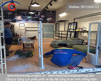 Nhanh chóng hoàn thiện thi công lắp đặt bộ cổng từ chống trộm tại MANBASIC - Hải Phòng.