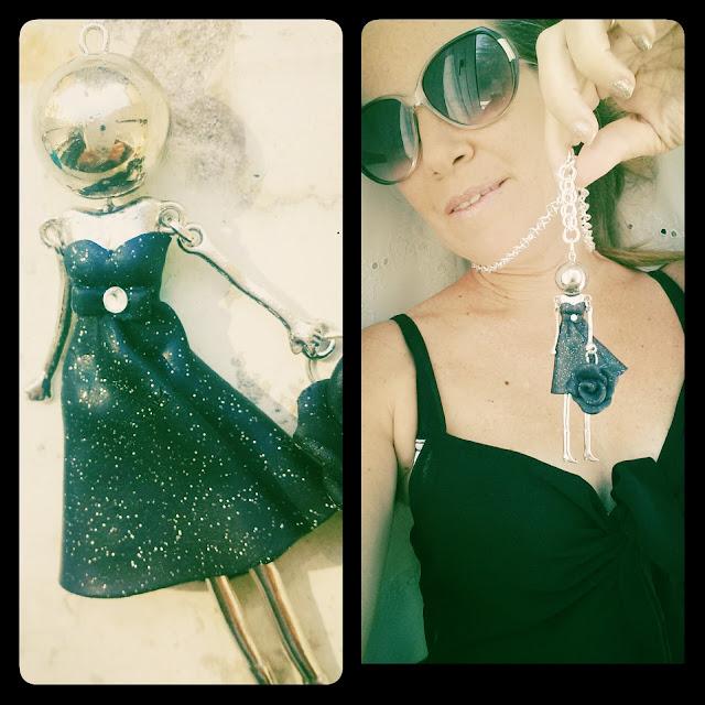 collana bijoux bambolina fimo outfit blog Alberta Bijoux