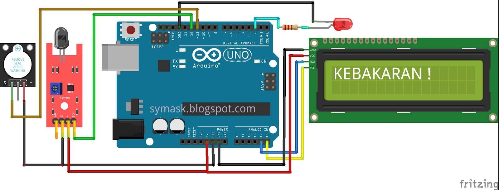 Cara Menggunakan Sensor Api (Flame Sensor) pada Arduino - Symask