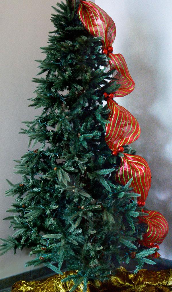 C mo decorar un hermoso rbol de navidad con mallas - Como decorar un arbol de navidad ...