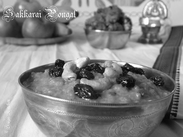 How to make Sakkarai/Sweet Pongal (Pressure Cooker Method)
