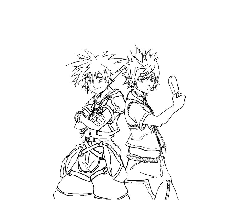 Kingdom Hearts Coloring Pages Sketch Coloring Page
