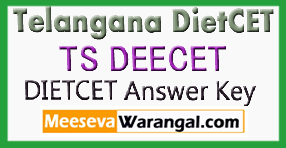 TS DEECET 2018 Initial Key Telangana DietCet Answer Key