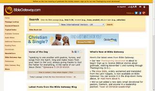 The Bible Gateway website
