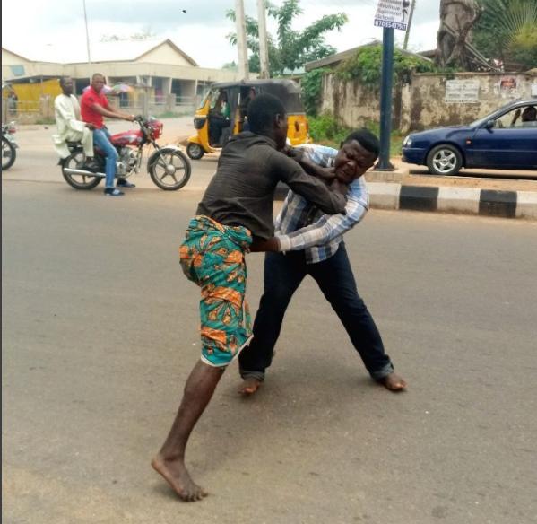Lokoja Pastor Attempts To Heal A Mad Man But Gets Beaten (Photos)1