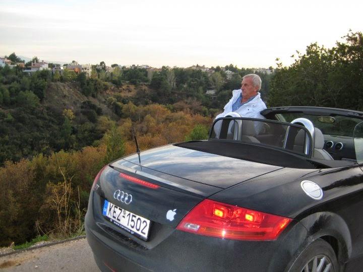Dimitris with his pride and joy - his car!