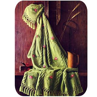 Vintage Crochet Rosebud Afghan Pattern