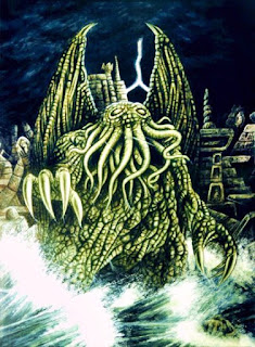 Review of The Call of Cthulhu:  The Call of Cthulhu is a thrilling short story about a creature that by merely knowing of his existence, places you in danger.