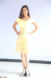 Shipra gaur in V Neck short Yellow Dress ~  080.JPG