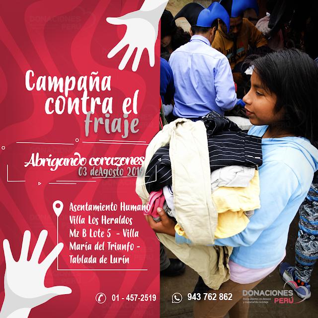 Campaña contra_friaje_Abrigando_Corazones_Agosto_2019_DonacionesPeru