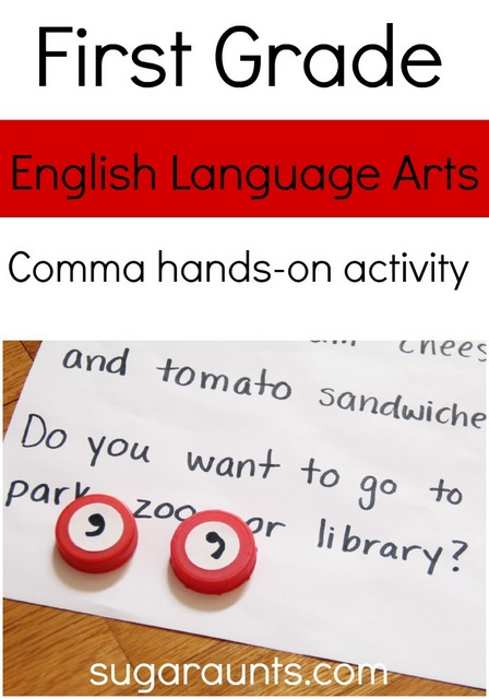 First Grade Teaching Comma Use Activity The OT Toolbox - comma and and