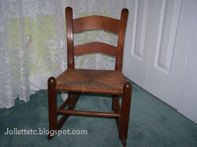 Rocking chair inherited from Helen Killeen Parker http://jollettetc.blogspot.com